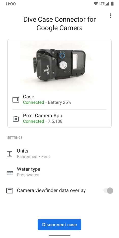 Connective Underwater Camera Apps