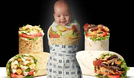 Sandwich-Themed Baby Swaddles