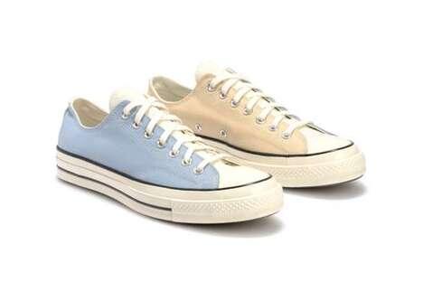 Color-Blocking Canvas Footwear