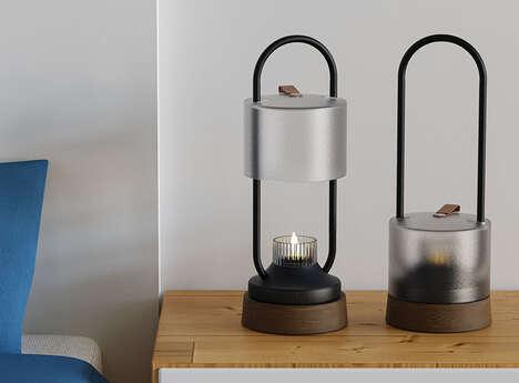 Intentionally Analog Bedside Lanterns