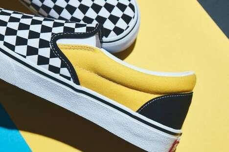 Geometric Patterning Laceless Shoes