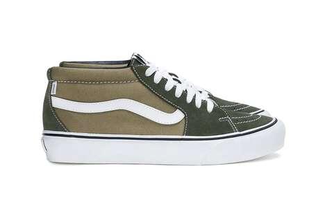 Earthy Tonal Mid-Rise Sneakers