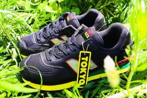 Rasta-Themed Tonal Sneakers