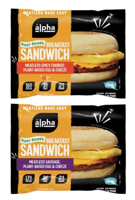Meat-Free Breakfast Sandwiches