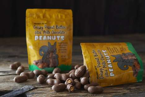 Nut-Shaped Chocolate Snacks