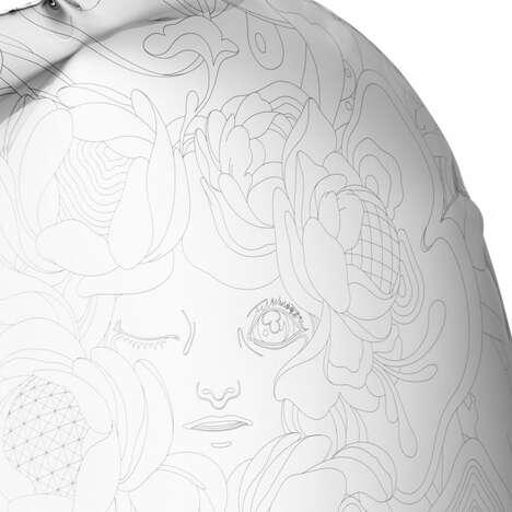 Engraved Mirror-Polished Sculptures