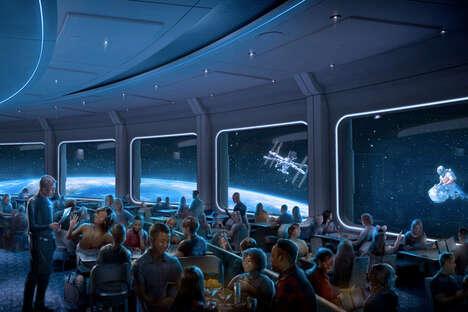 Earth-Orbiting Theme Park Restaurants