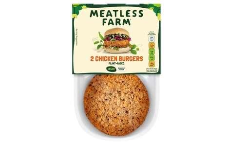 Vegan-Friendly Chicken-Like Burgers
