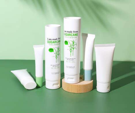 Sugarcane Bioplastic Cosmetic Packaging