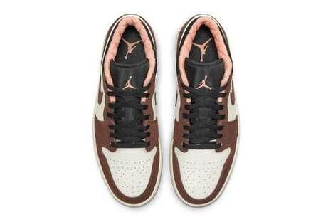 Mocha-Themed Tonal Sneakers