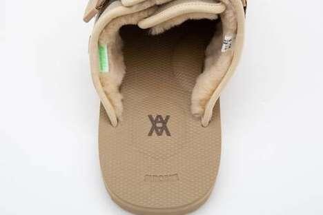 Fuzzy Artist-Collab Sandals