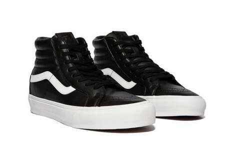 Minimal Leather Hi-Top Shoes