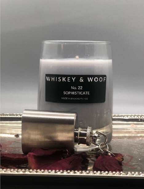 Sophisticated Bourbon-Scented Candles