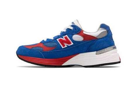 Patriotic Suede Casual Sneakers