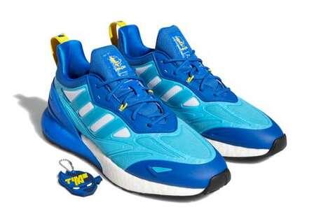Vibrant Oceanic Tonal Footwear