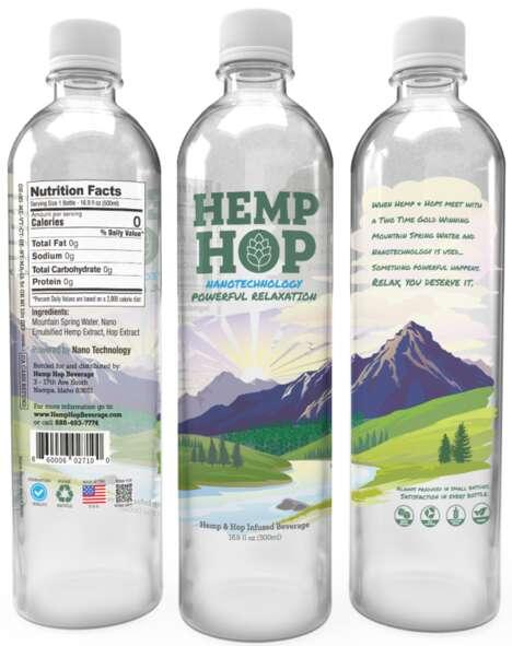 Calm-Inducing Hemp-Based Drinks
