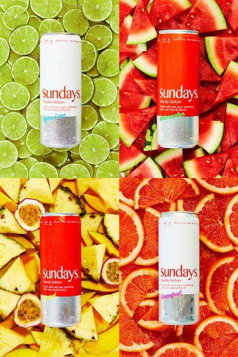 Authentic Fruit-Tequila Seltzers