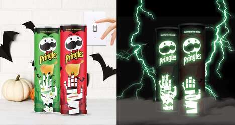 Glow-in-the-Dark Crisps Cans