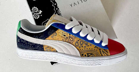 Paisley Patchwork Sneakers