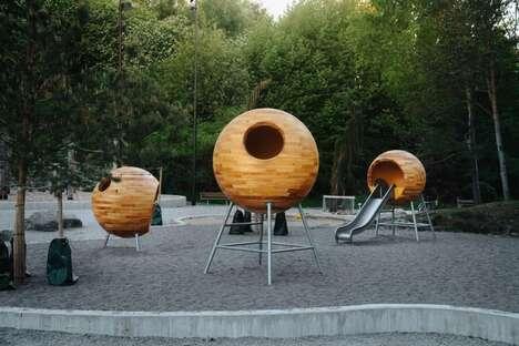 Minimalist Children's Play Structures
