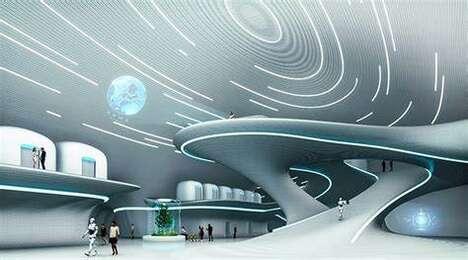 Futuristic Moon Village Designs