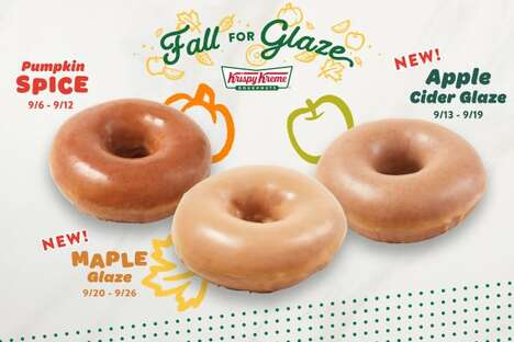 Seasonally Flavored Glazed Donuts