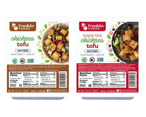 Vegan Chickpea-Made Tofus