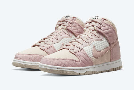 Heavily-Textured Pink Sneakers
