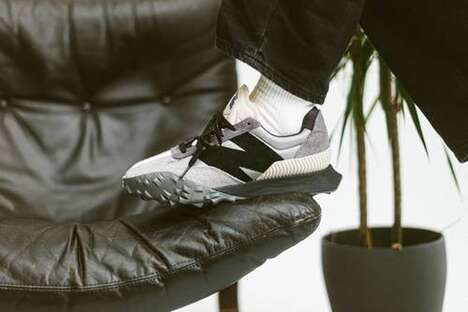 Grayscale Mix Material Sneakers