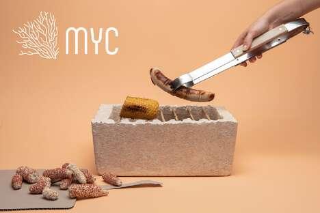 Biodegradable Mycelium Grills