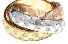 Playful Luxury Gems - $14,400 Cartier Trinity Ring with Diamonds & Stars is for Grown Up Children