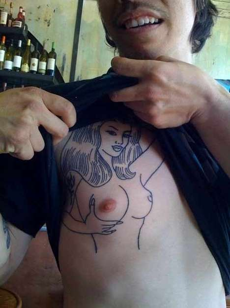 Fake Naughty Tattoos