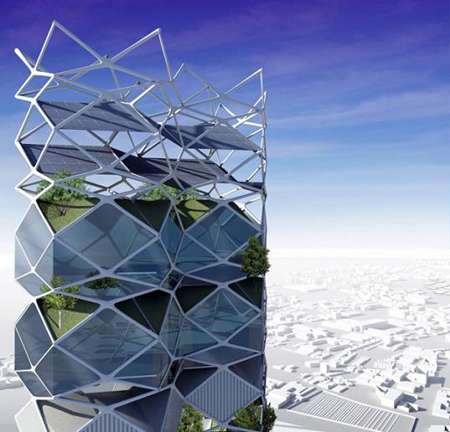 Vertical City in Mexico City Designed to Help Reduce Smog