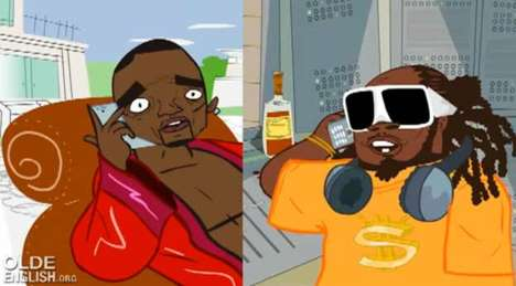 Auto-Tune Parody Songs - Animated Akon Calls T-Pain to Go for Sushi at the Mall