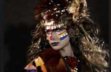 War Paint Photography - 'Global Tribes' Features Feathers, Headdresses & Fur