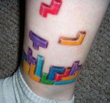 Tetris Tattoos - Geeky Shapes Make Their Way From Video Games to Skin
