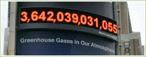 Deutsche Bank Shows Real-Time Amount of Greenhouse Gases