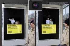 Morphing Billboards - German Bus Stop Exposes the Duality of Domestic Violence