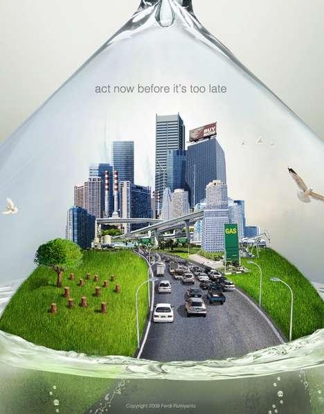 Global Warming Hourglasses