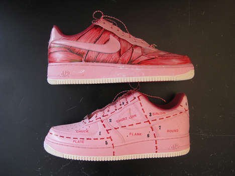 BlackYard 'Haute Charcuterie' Nike Air Force Ones Show Cuts of Meat