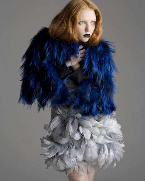 Fur & Feather Fashion - Marcus Soder Curates Avant-Garde Animalistic Apparel