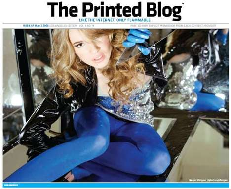 Newspaperized Blogs - The Printed Blog Blends Old Media and New