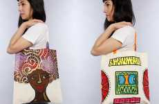 Tribal Hand-Painted Purses - Artistic Canvas Bags by Amanda Diva Totes