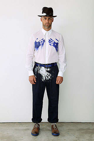 Spring 2010 Does Menswear With Big Flair & Quirky Belts