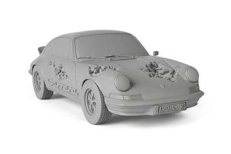 Eroded Car-Shaped Artful Sculptures