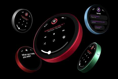 Medallion-Shaped MP3 Players