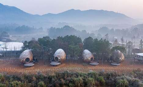 Seed-Shaped Hotel Cabins
