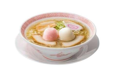 Mochi-Topped Ramen Noodles