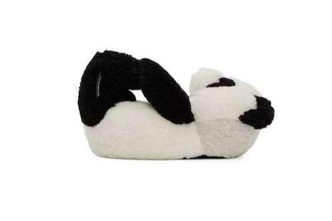 Teddy Bear-Themed Fuzzy Slippers