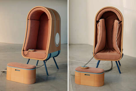 Stress-Reducing Hugging Chairs